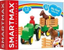Моят първи конструктор - Трактор - Образователна играчка с магнити -