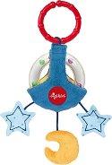 """Дрънкалка - Луна - Мека бебешка играчка за закачане от серията """"PlayQ"""" -"""