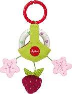 """Дрънкалка - Ягодка - Мека бебешка играчка за закачане от серията """"PlayQ"""" - играчка"""