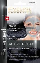 Eveline Facemed+ Active Detox Purifying Mask - Почистваща маска за лице за комбинирана към мазна и акнетична кожа - маска