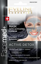 Eveline Facemed+ Active Detox Purifying Mask - фон дьо тен