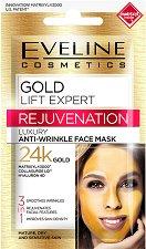 """Eveline Gold Lift Expert Anti-Wrinkle Face Mask - Маска за лице против бръчки със златни частици от серията """"Gold Lift Expert"""" - крем"""