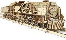 Парен влак с тендер - V-Express - Механичен 3D пъзел -