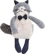 """Коте - Mini Fernand - Плюшена бебешка играчка от серията """"Les Moustaches"""" - играчка"""