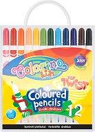 Цветни моливи - Just Twist - Комплект от 12 цвята