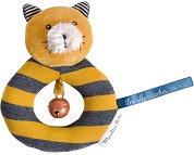"""Дрънкалка - Коте Lulu - Мека бебешка играчка от серията """"Les Moustaches"""" - играчка"""