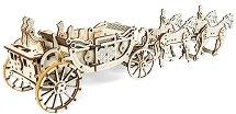 Кралска каляска - Механичен 3D пъзел - пъзел