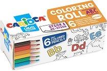 Самозалепваща се ролка за оцветяване - ABC - Комплект с 6 цветни молива - продукт