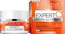 """Eveline Expert C 40+ Anti-wrikle Cream Serum - Дневен и нощен крем-серум против бръчки от серията """"Expert C"""" - крем"""