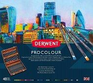 Цветни моливи - Procolour - Комплект от 48 или 72 цвята в дървена кутия