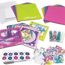 Направи сама - Блестящи картички Nebulia - Творчески комплект - играчка