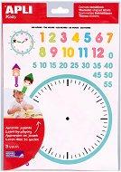 Самозалепващи стикери - Часовник - Комплект от 90 броя
