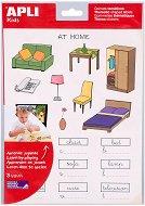Самозалепващи стикери - Вкъщи - Комплект от 54 броя