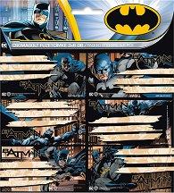 Етикети за тетрадки - Batman - Комплект от 18 броя - продукт