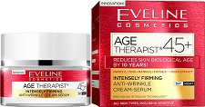 "Eveline Age Therapist 45+ Intensely Firming Anti-wrinkle Cream-serum - Дневен и нощен крем-серум против бръчки от серията ""Age Therapist"" -"