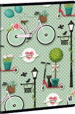 Ученическа тетрадка - Ride : Формат А5 с широки редове - 40 листа -