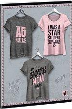 Ученическа тетрадка - Shirt 1 : Формат А5 с широки редове - 40 листа -