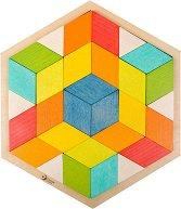 Шестоъгълна мозайка - Дървен образователен комплект -