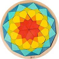 Мозайка - Мандала - Комплект за игра от дърво - играчка