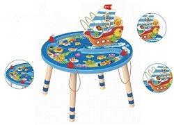 Активна маса - Океан - Детска образователна играчка от дърво -