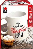 Маркери за порцелан - Christmas Cup - Комплект за декориране с чаша