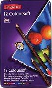 Цветни моливи - Coloursoft - Комплект от 12, 24, 36 или 72 цвята в метална кутия