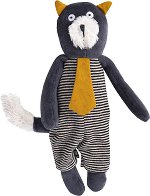 "Коте - Alphonse - Мека бебешка играчка от серията ""Les Moustaches"" - играчка"