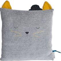 """Плюшена възглавница - Sleepy Cat - От серията """"Les Moustaches"""" -"""