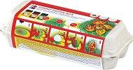 Бои с мраморен ефект - Funny Easter Box - Комплект за декорация с фигури