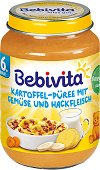 Bebivita - Пюре от картофи със зеленчуци и мляно месо - Бурканче от 190 g за бебета над 6 месеца - пюре