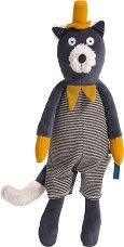 """Коте - Alphonse - Мека бебешка играчка от серията """"Les Moustaches"""" -"""