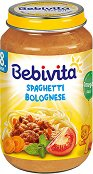Bebivita - Пюре от спагети болонезе - Бурканче от 220 g за бебета над 8 месеца - пюре