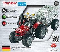 Трактор с ремарке - Massey Ferguson MF-5610 - играчка