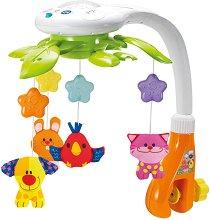 Музикална въртележка с проектор - Животни - Играчка за бебешко легло - играчка