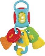 Ключове с дъвкалки - Бебешка играчка със звуков и светлинен ефект -
