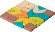 Геометрична мозайка - Детска дървена играчка -