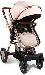 Комбинирана бебешка количка - Veyron - С 4 колела -