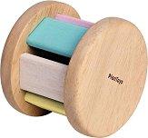 Дрънкалка - Ролер - Детска дървена играчка -