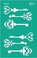 Самозалепващ шаблон - Ключове - Размери 13 х 20 cm