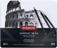 Графитни моливи - Graphic - Комплект от 24 броя в метална кутия