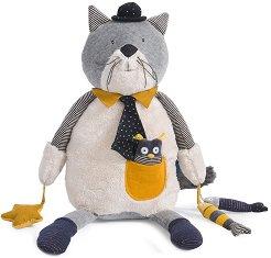 """Коте - Fernand - Плюшена бебешка играчка от серията """"Les Moustaches"""" -"""