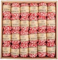 Канап - Бял и червен - Комплект от 24 броя с дължина 3 m