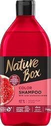 Nature Box Pomegranate Oil Color Shampoo - Натурален шампоан за боядисана коса с масло от нар - балсам