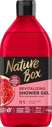 Nature Box Pomegranate Oil Revitalizing Shower Gel - Натурален душ гел с масло от нар за суха кожа - душ гел