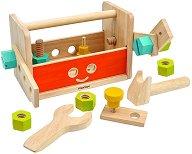 Детска кутия с инструменти - Робот - Дървена играчка -