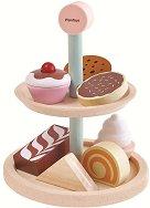 Поднос със сладкиши - Детски дървен комплект за игра -