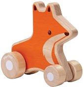 Лисица - Дървена играчка за бутане -