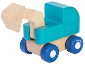 Багер - Детска дървена играчка -