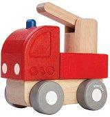 Пожарникарски камион - Детска дървена играчка -