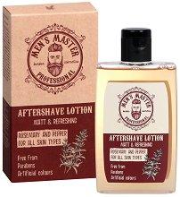 Men's Master Professional Matt & Refreshing Aftershave Lotion - Лосион за след бръснене с розмарин за всеки тип кожа - шампоан